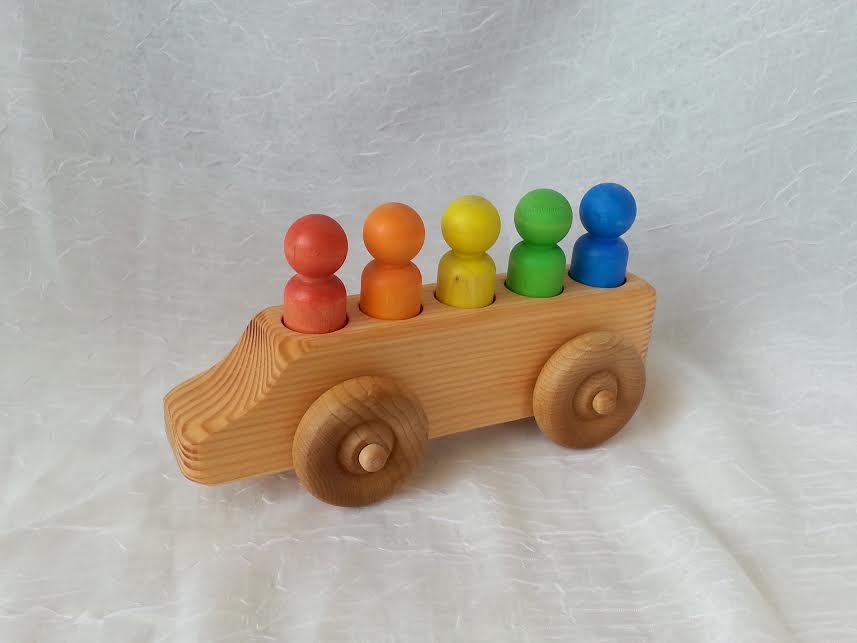 Wooden Rainbow People Van -  Locally Handmade   $19.95    Wants 1
