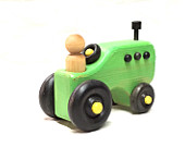 Wooden Green Tractor with Driver -  Locally Handmade   $19.95    Wants 1