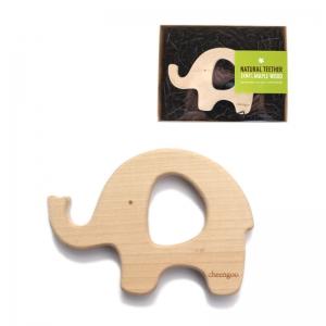 Cheengoo Maple Hardwood Elephant Teether    $14.95    Wants 1