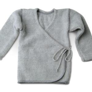 LanaCare Organic Merino Wool Wrap Sweater in Grey 0-3m    $57.00    Wants 1