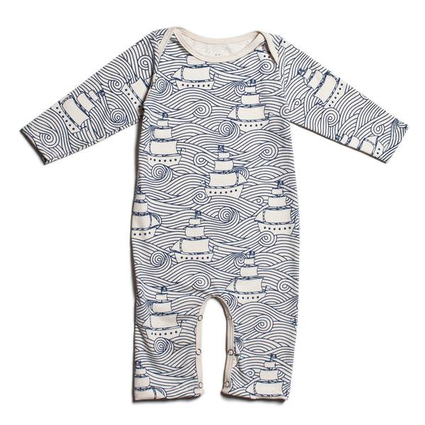 Winter Water Factory Organic Long Sleeve Romper size 6m    $44.00    Wants 1purchased