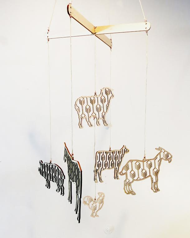 Tiny Little Nest Laser Cut Farm Mobile  local artist   $68.99    Wants 1  purchased