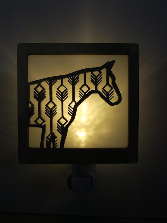 Tiny Little Nest Laser Cut Horse Nightlight  local artist   $30.00    Wants 1  purchased