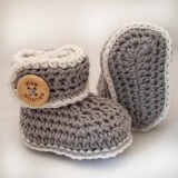 WEE Booties Organic Wool Knit Bootie 3-6m in Grey    $29.95    Wants 1  purchased