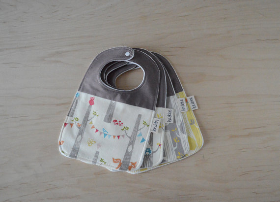 Kribbe Organic Cotton Bib set of 3 (your choice of pattern)   Locally Handmade   $39.00    Wants 3 (1) Purchased