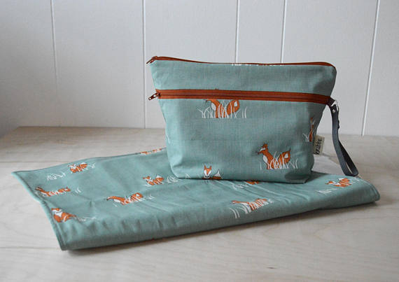 Kribbe Organic Diaper Pouch and Changing Pad Set in Fox   Locally Handmade   $57.95    Wants 1