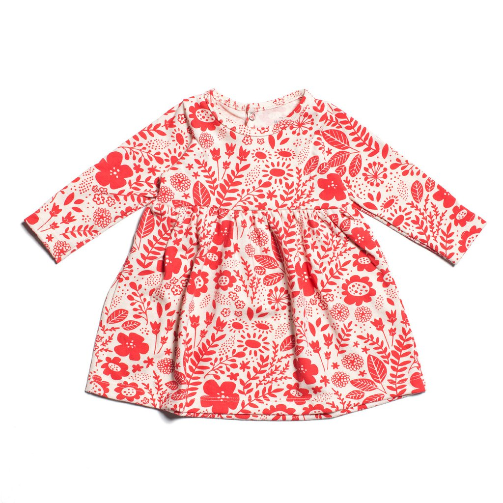 Winter Water Factory Organic Baby Dress in Red Floral in size 3m    $27.30 *ON SALE*    Wants 1