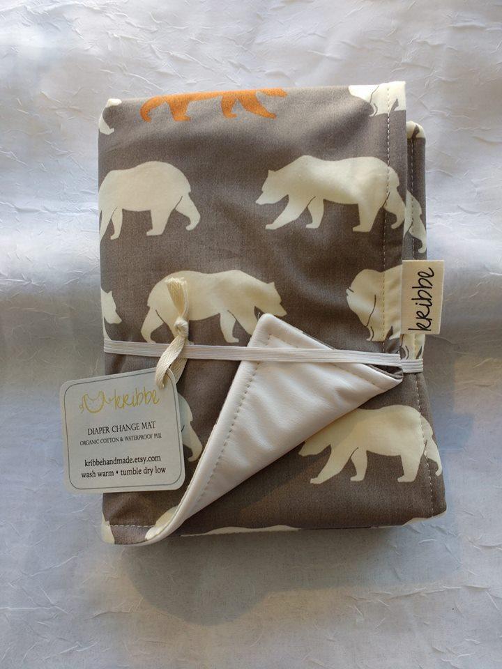 Kribbe Organic Changing Pad in Bears   (Locally Handmade)   $25.00    Wants 1  purchased