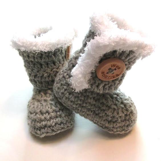 Wee Booties Wool Huggs in Grey 6-12m    $28.95    Wants 1  purchased