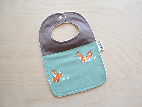 Kribbe Organic Bib in Fox  - Locally Handmade   $14.00    Wants 1  purchased