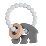 Chewbeads Brooklyn Silicone and Wood Teether in Grey Elephant    $14.50    Wants 1