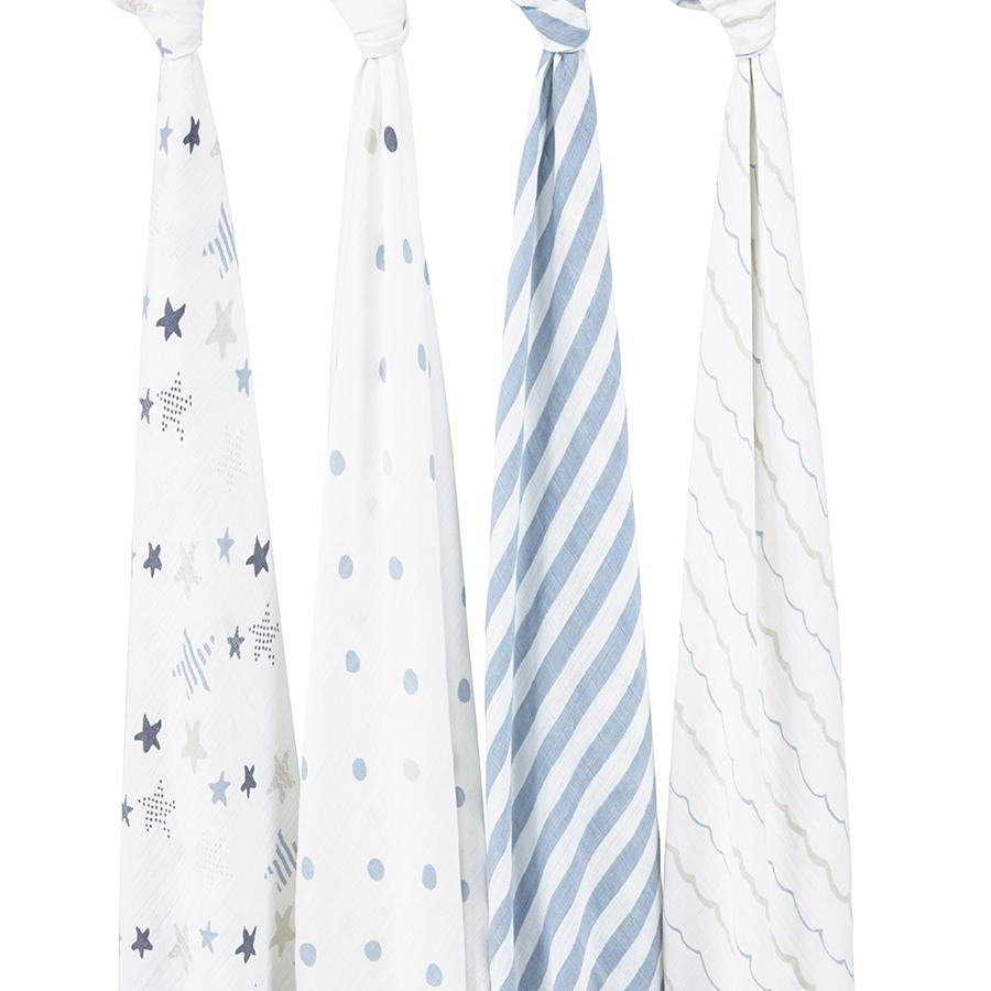 Aden & Anais 4 pack Muslin Swaddles in Rock Star    $49.95    Wants 1