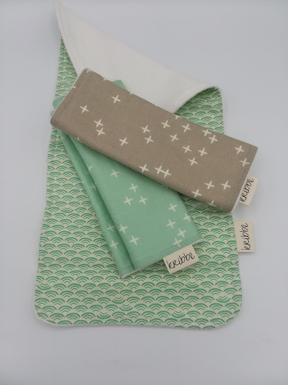 Kribbe 3pk Organic Burp Cloths  (locally handmade)   $39.00    Wants 1
