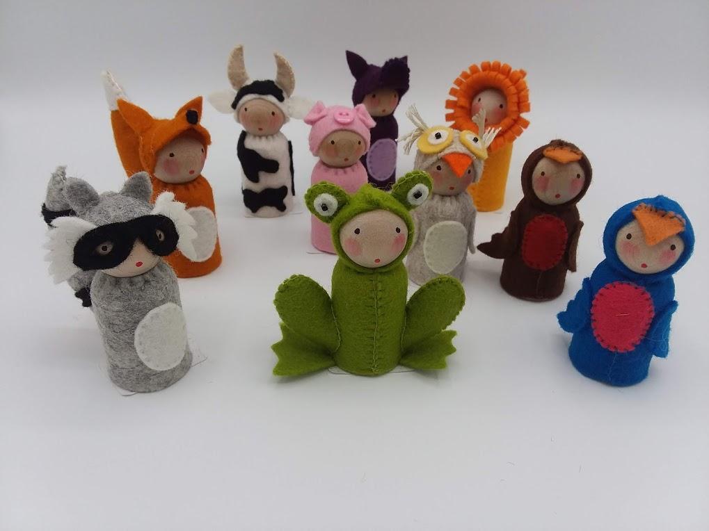 Peg Creatures - Any Animals  (locally handmade)   $12.00 ea    Wants 1+