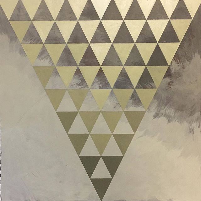 Into this palette right now. Please see previous post regarding raising funds for legal support at the southern border  #geometricabstraction #goldenacrylics #primaries #triangles