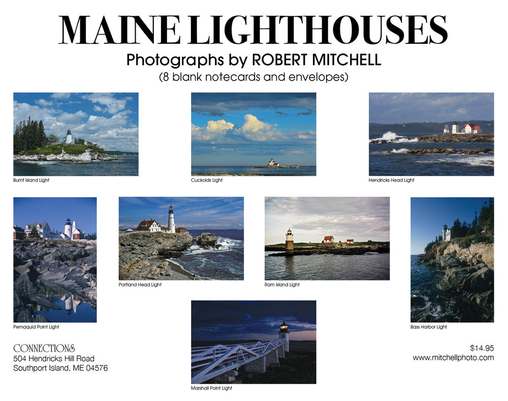 Set of 6 Maine Photography Note Cards