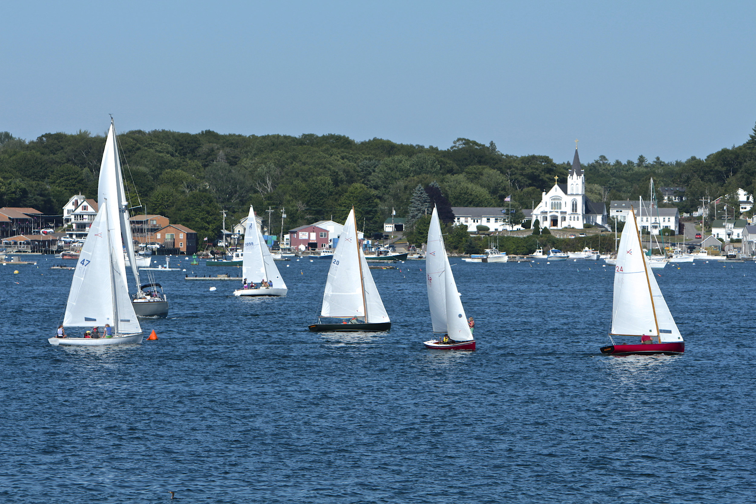 August: Boothbay Harbor