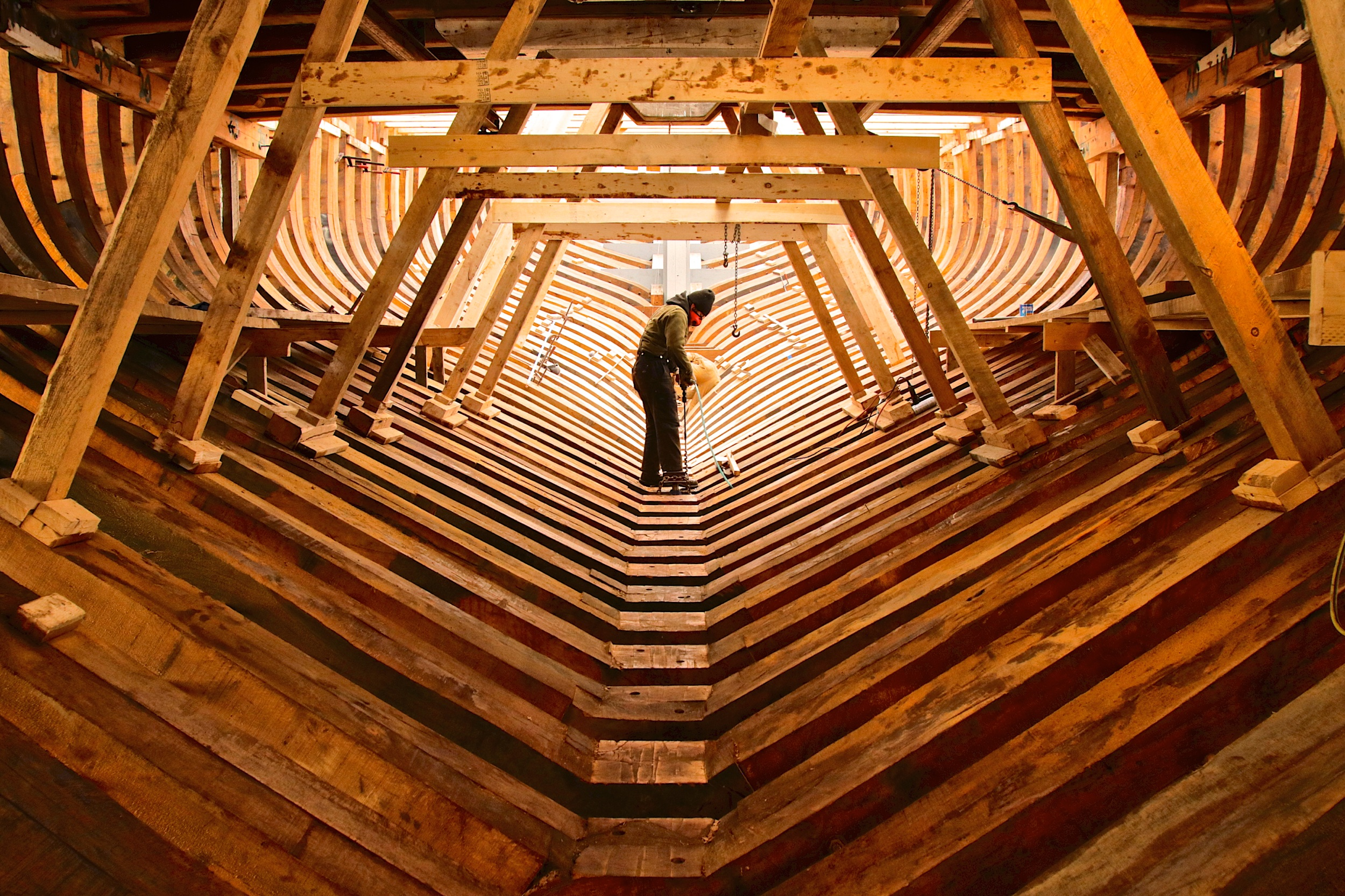May: Ernestina-Morrissey. The Shipyard In Boothbay Harbor.