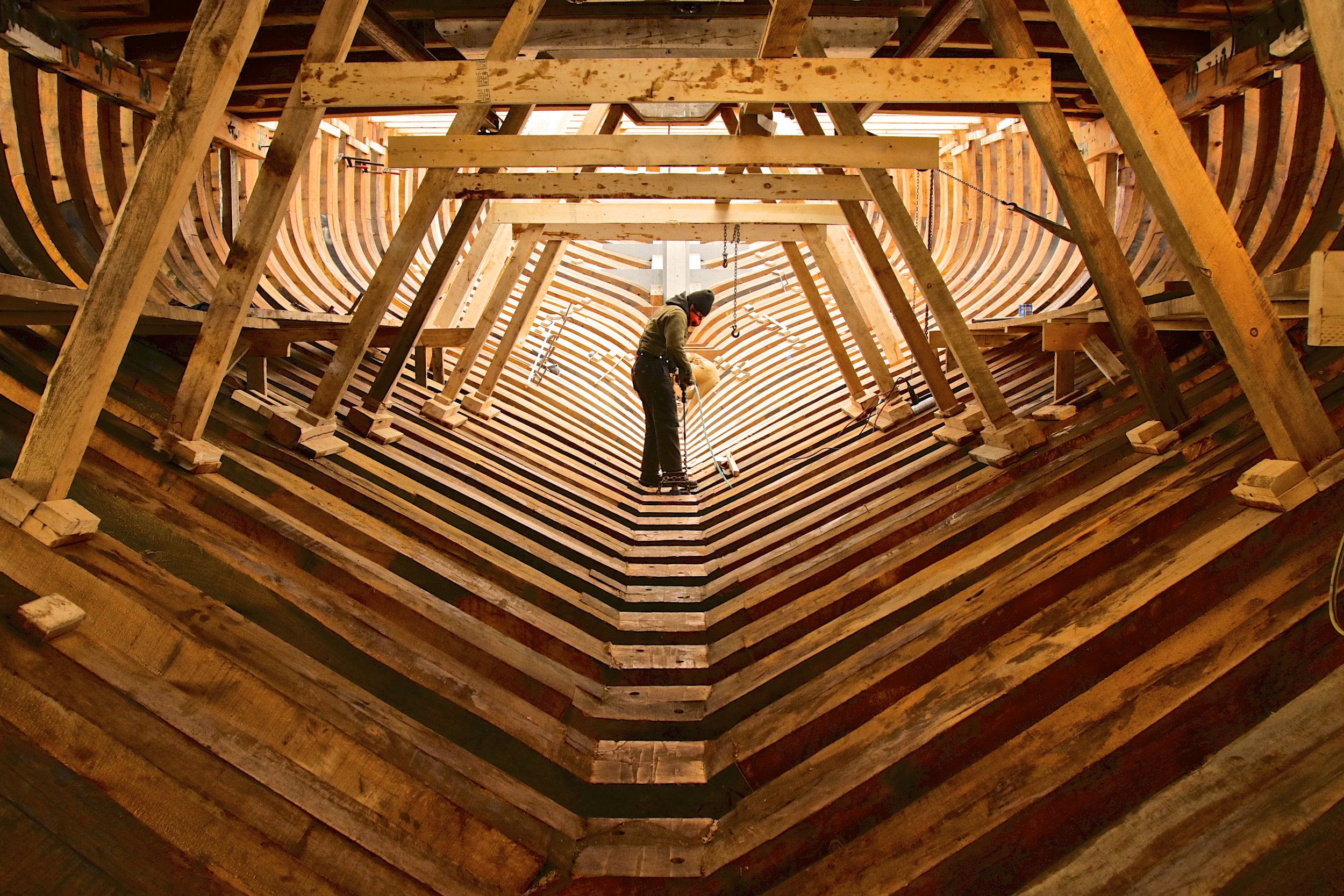 May: Ernestina-Morrissey, The Shipyard In Boothbay Harbor.