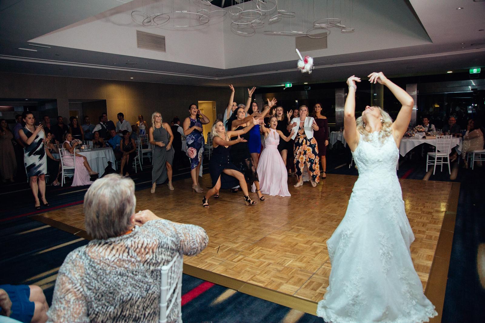 Gold Coast Wedding Bouqet toss