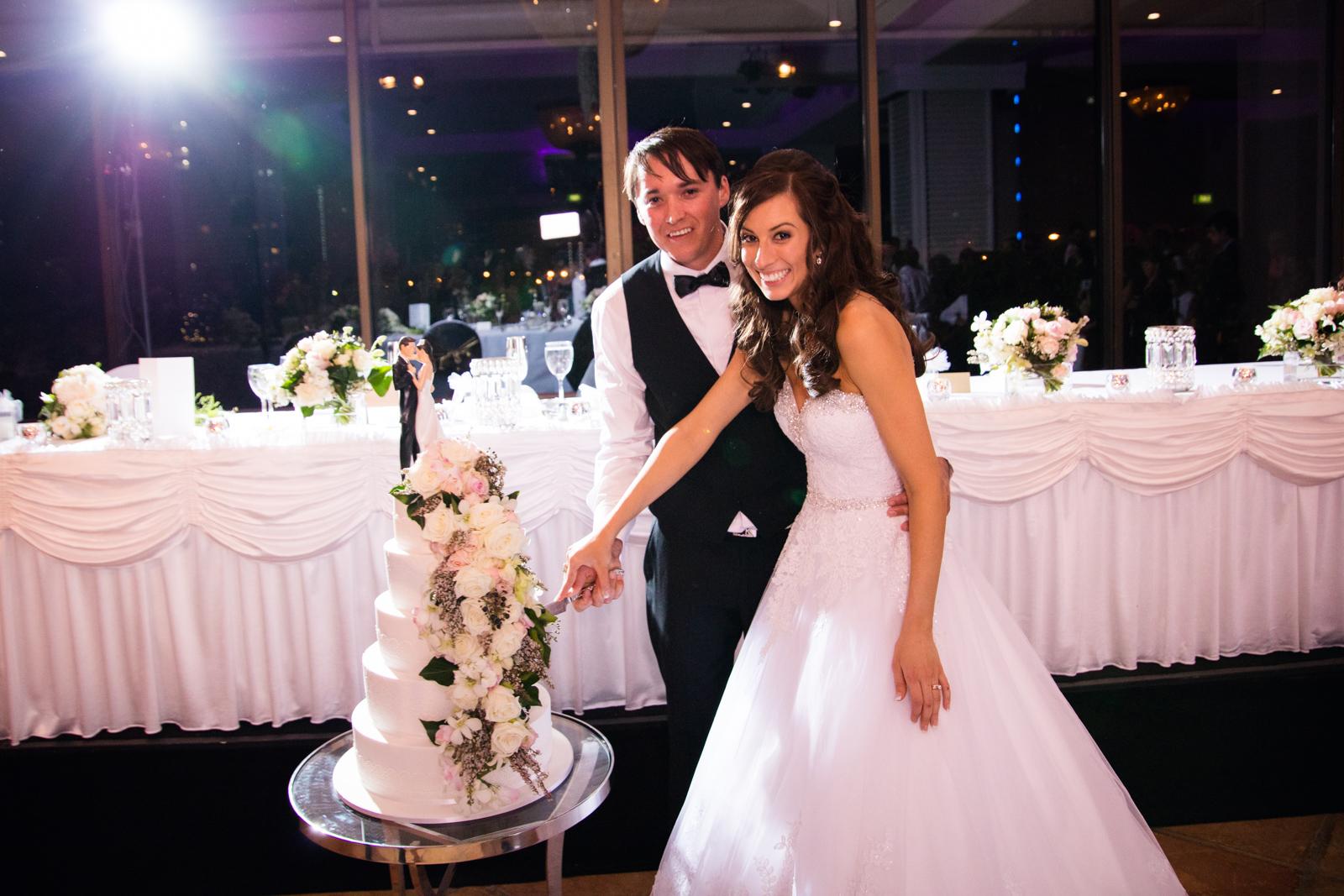 Tory & Bianca's Wedding cake
