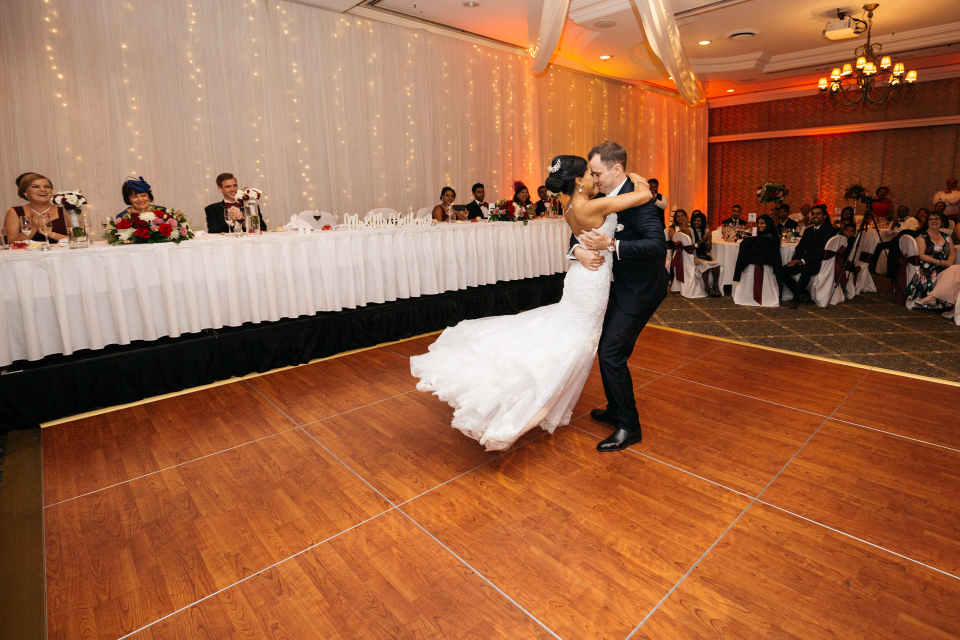Stamford Wedding Reception Image of first dance