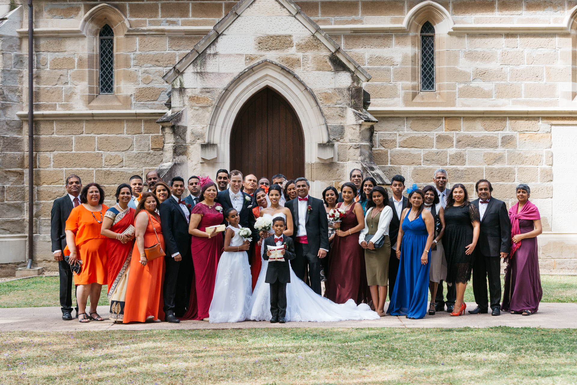 Group Wedding Photo at Cathedral of Saint Stephen