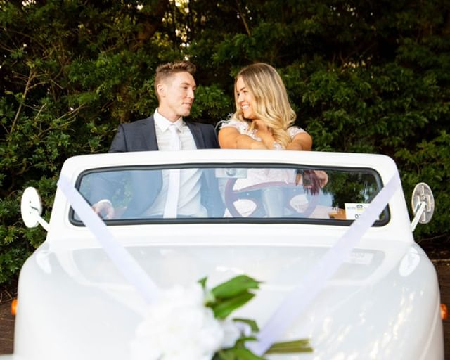 Arrive in style at your wedding day! Why not have a bit of fun with it 🚗 . . . . . #weddinginspiration #relationshipgoals #weddings #weddingphotographer #weddingideas #weddingday #weddingvideographer  #realweddings #weddingstyle #beautifulweddings #weddingsaustralia #weddingdress #weddingvenues #bestweddingvenue #weddingbells #weddingday #weddingseason #weddingfun #weddingphotos #weddingphotoshoot #weddingphotographers #weddingcars #weddingarrival