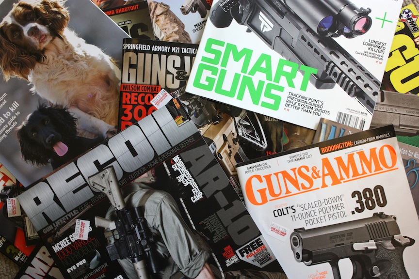 Gun magazines / Photo credit: Susannah Breslin