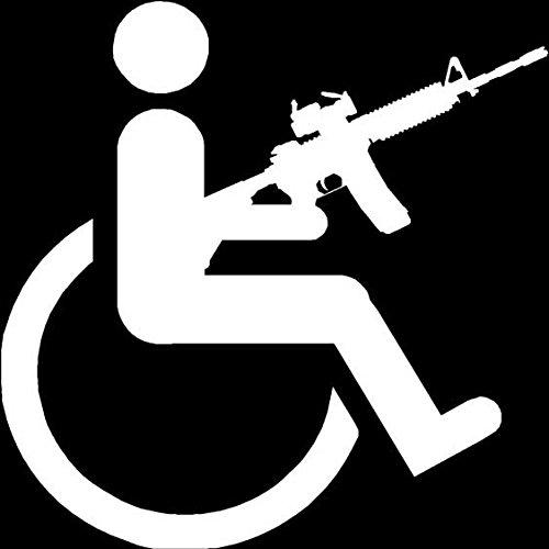 Handicap Gun Wheelchair / Image credit:  Southern Decalz
