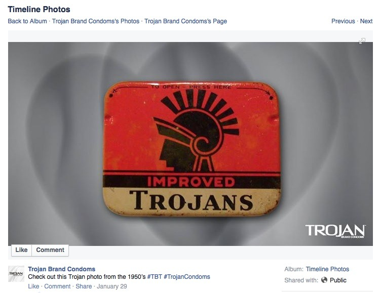 Image credit:  Trojan Brand Condoms