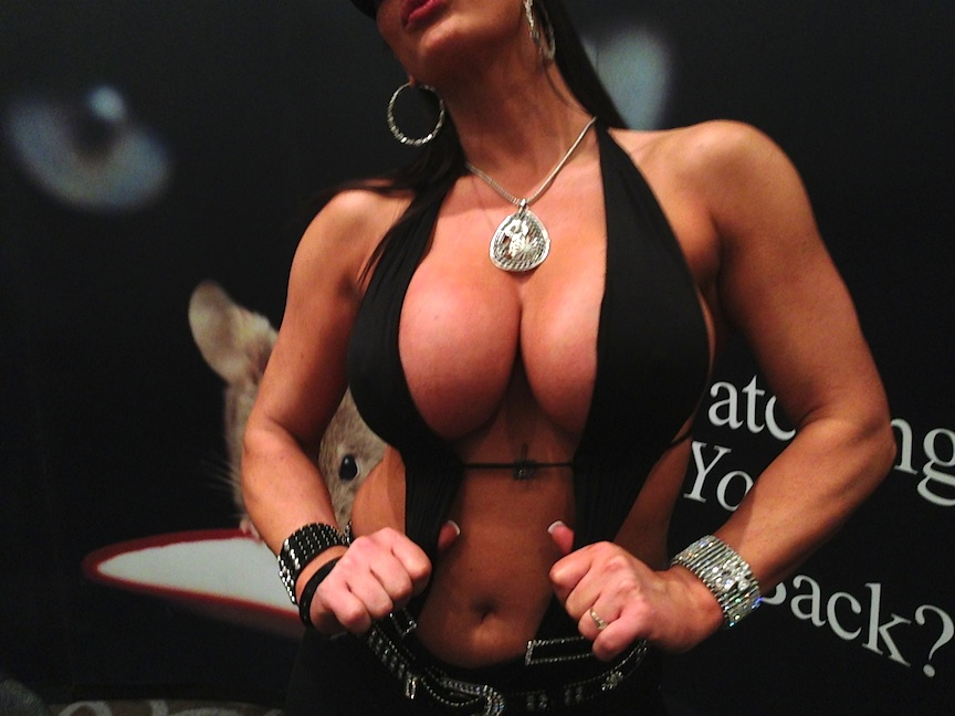 A porn star poses at an adult convention in Las Vegas, Nevada (Photo credit:  Susannah Breslin )