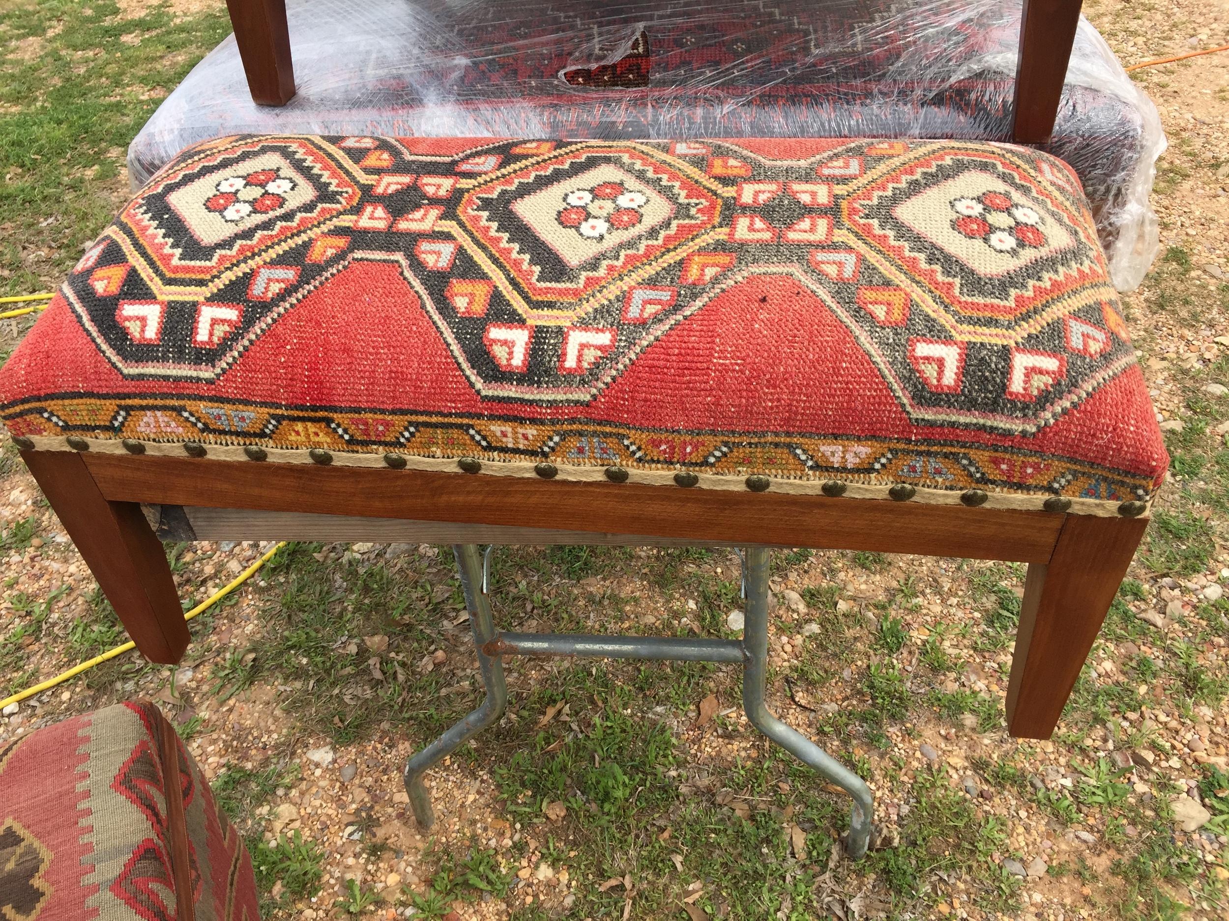 Kazak upholstered bench