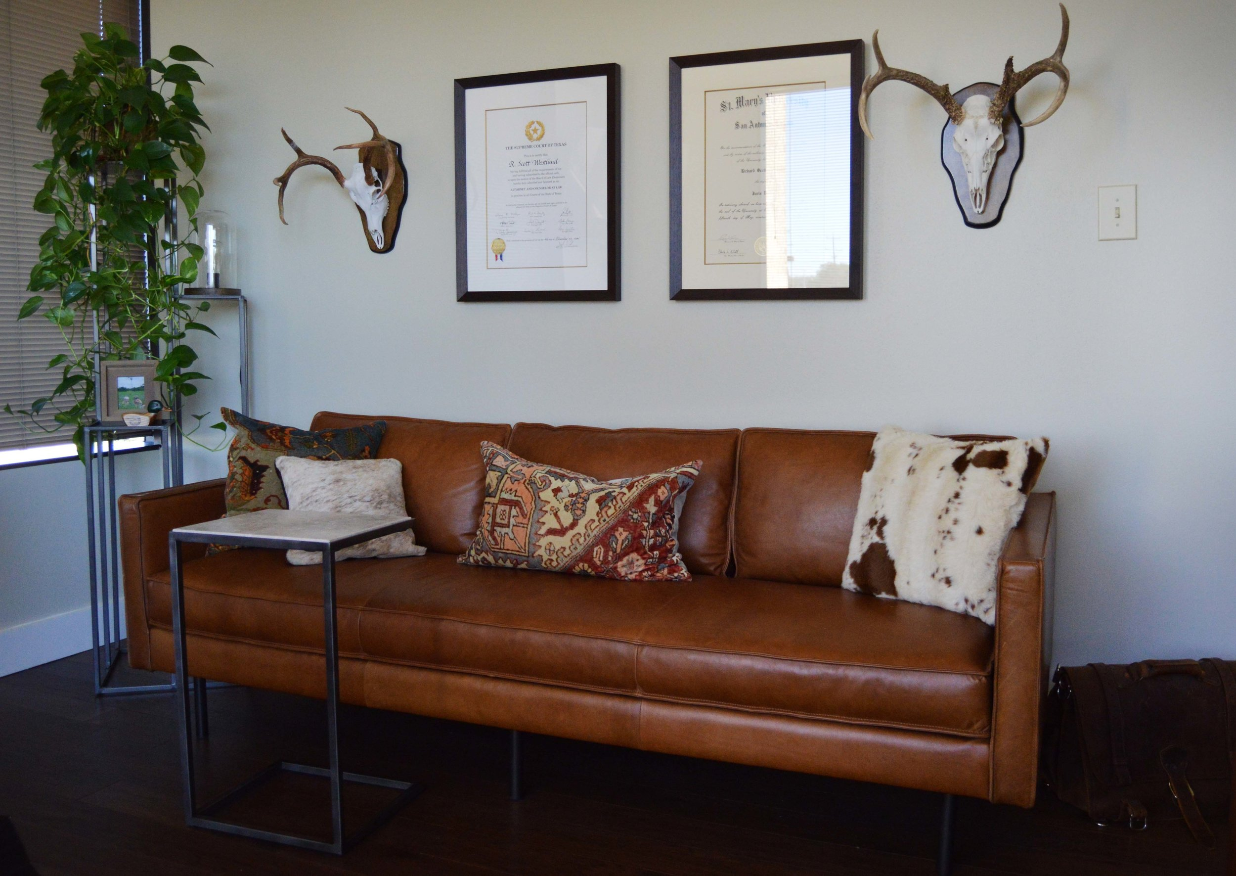 Couch and Details - Abode Interior Design