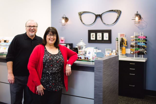 Pictured above: Ron Swengel and Billie Swengel of College Place Optical.