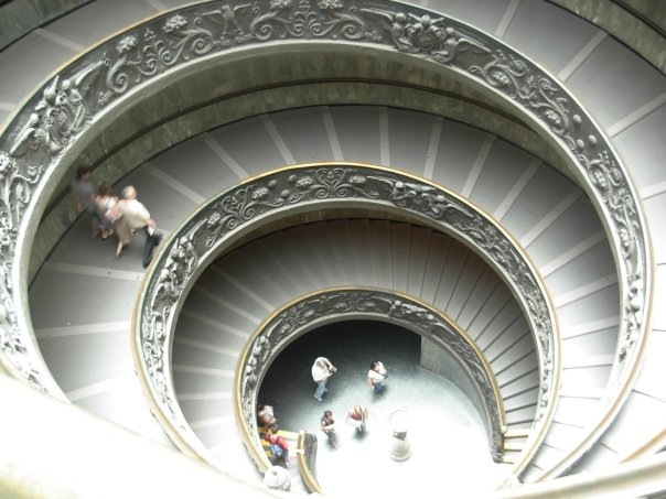 Some cool whirly stairs in the Vatican