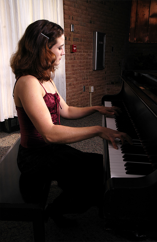 Preparing for my concerts in graduate school at Towson University; photo by my good friend,  Brian Hughes.