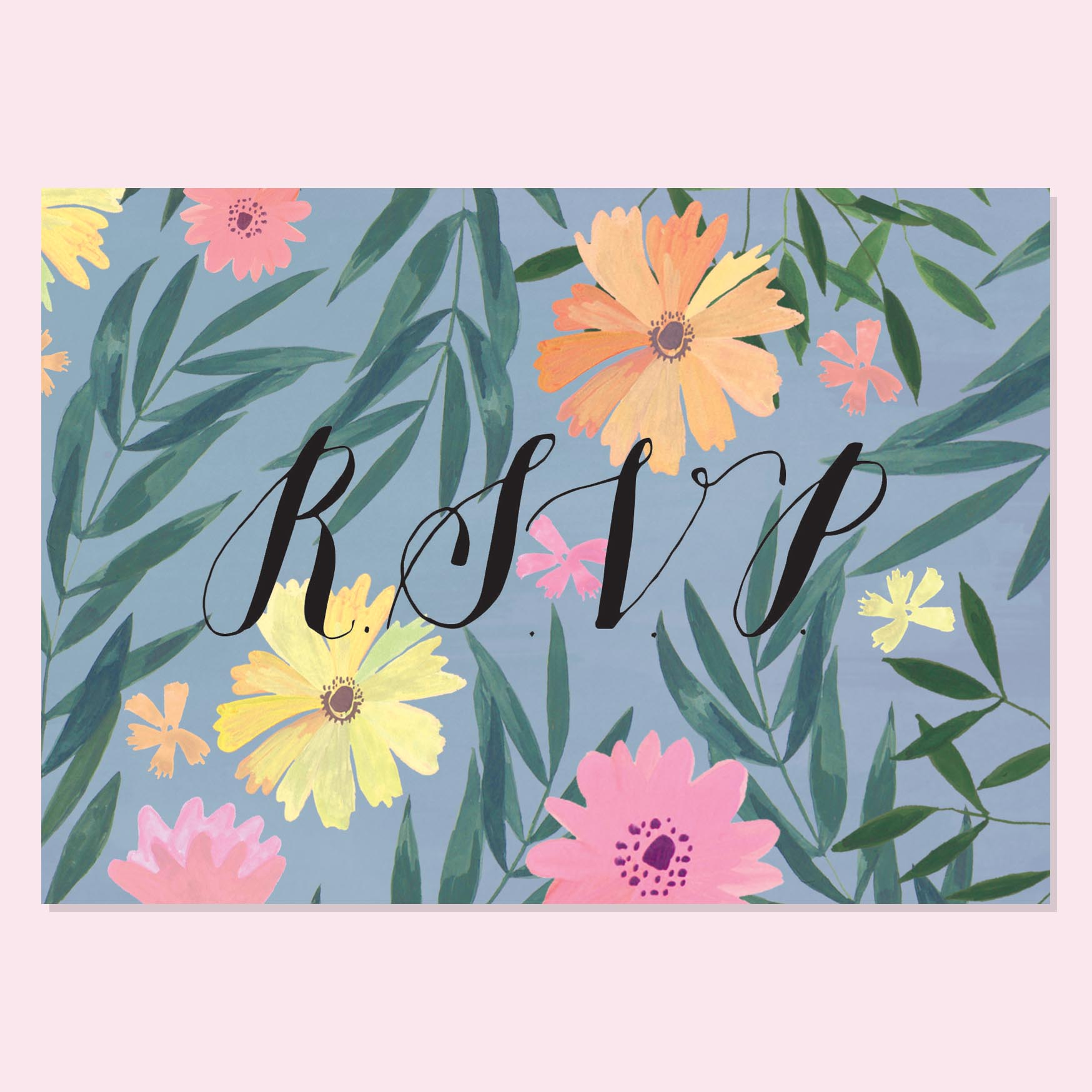 Kitty and Michael - Tropical Floral RSVP