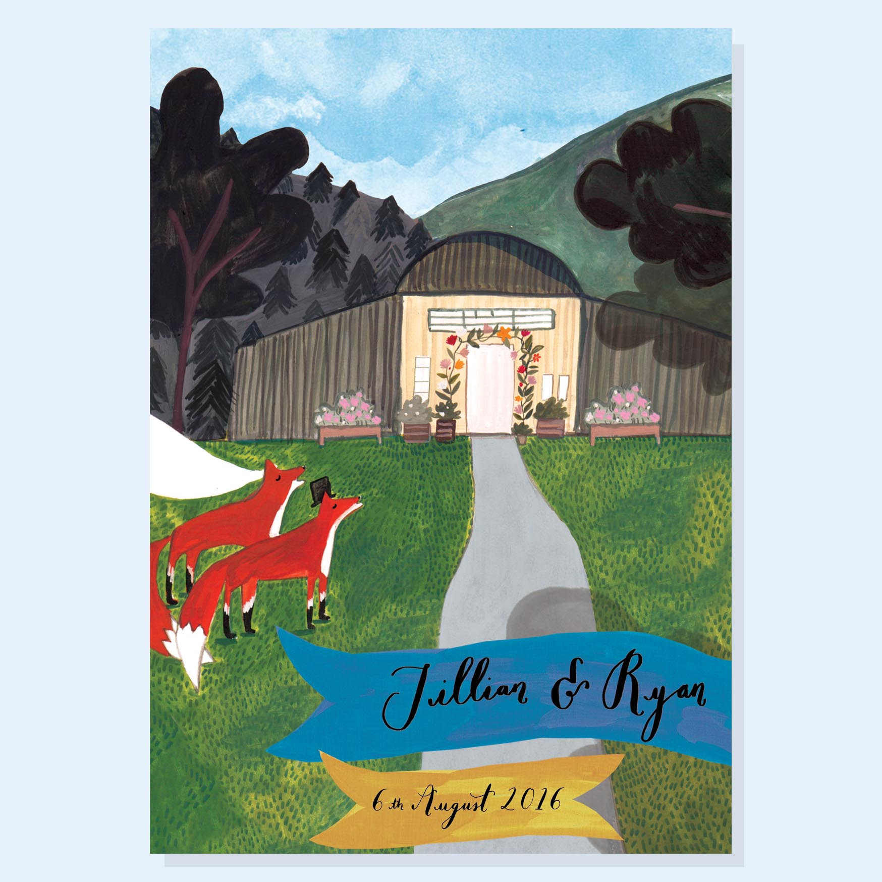 Jillian and Ryan - Bespoke Wedding Stationery