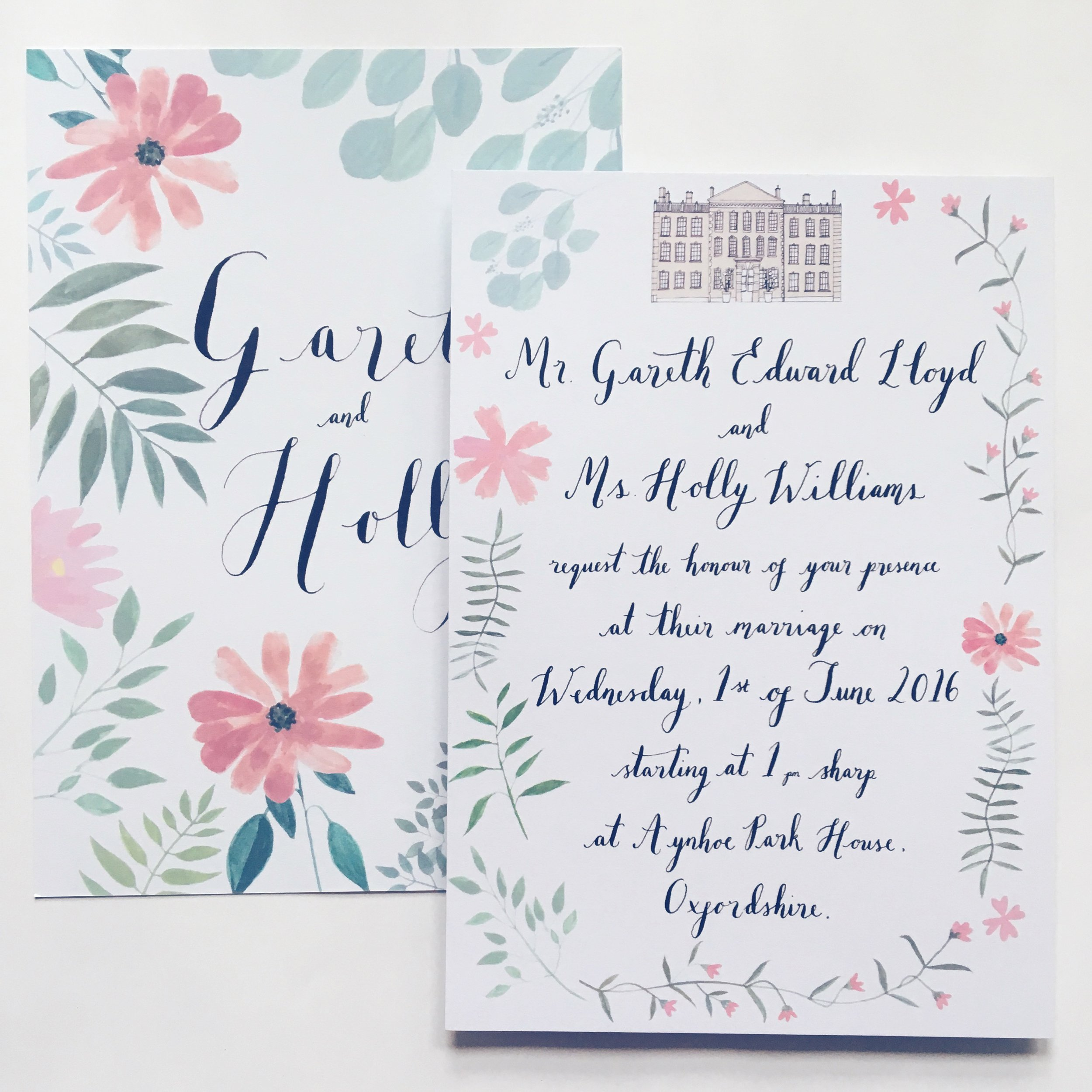 Holly and Gareth - Customised Wildflower