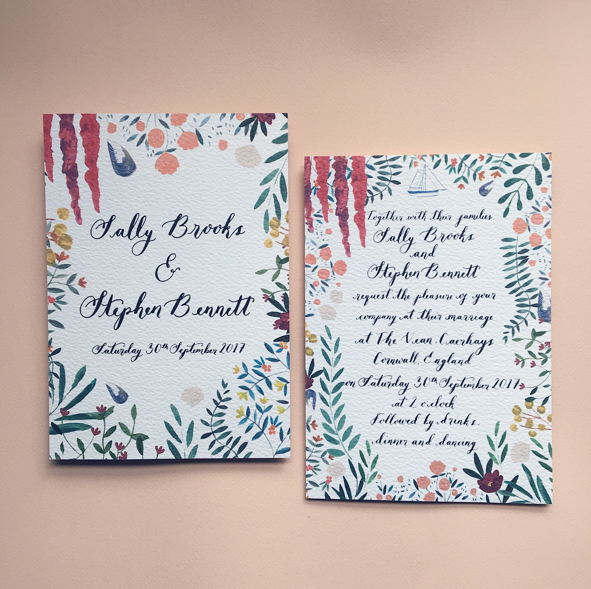 Sally & Stephen - Bespoke Wedding Invitation