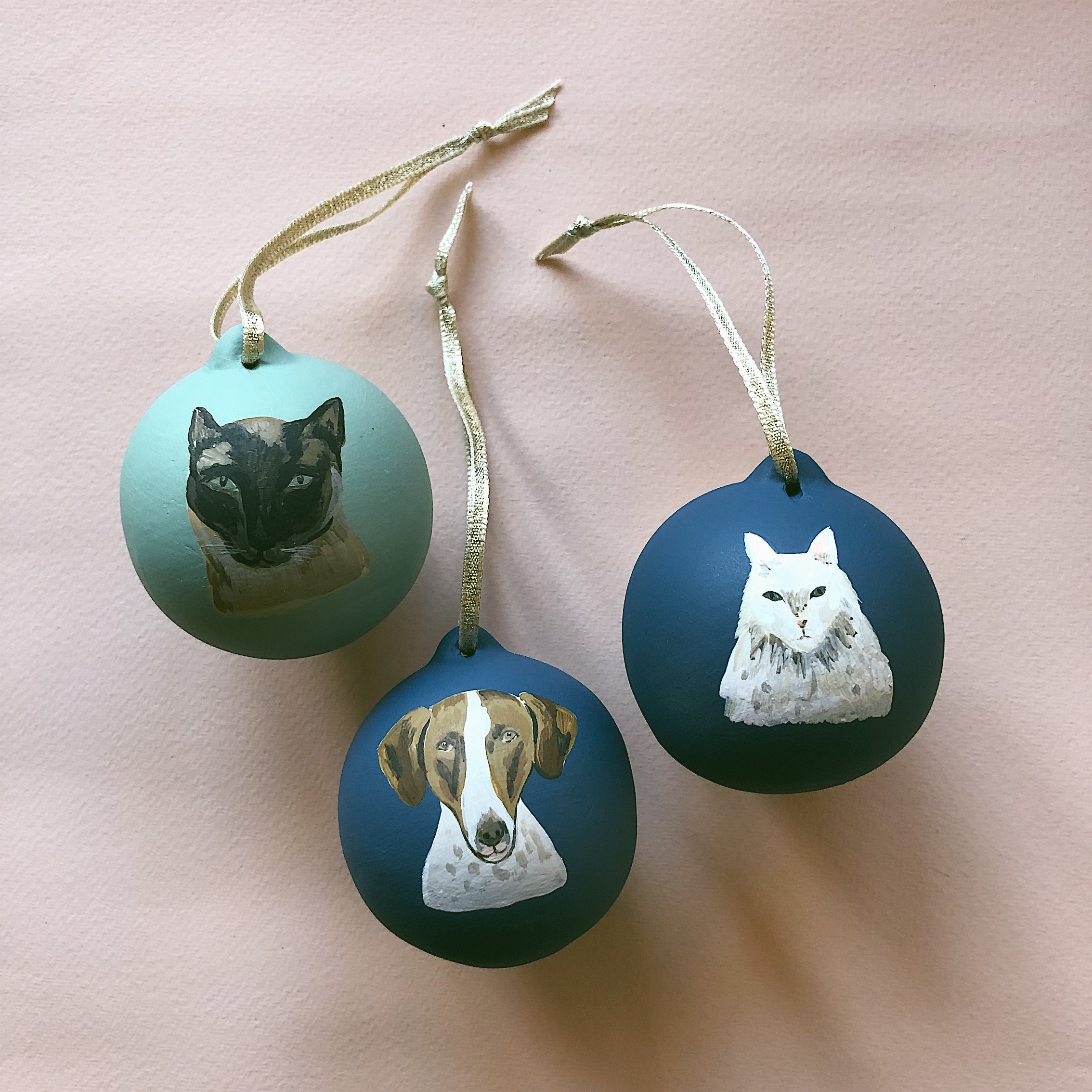 Peggy and Kate Pet Baubles