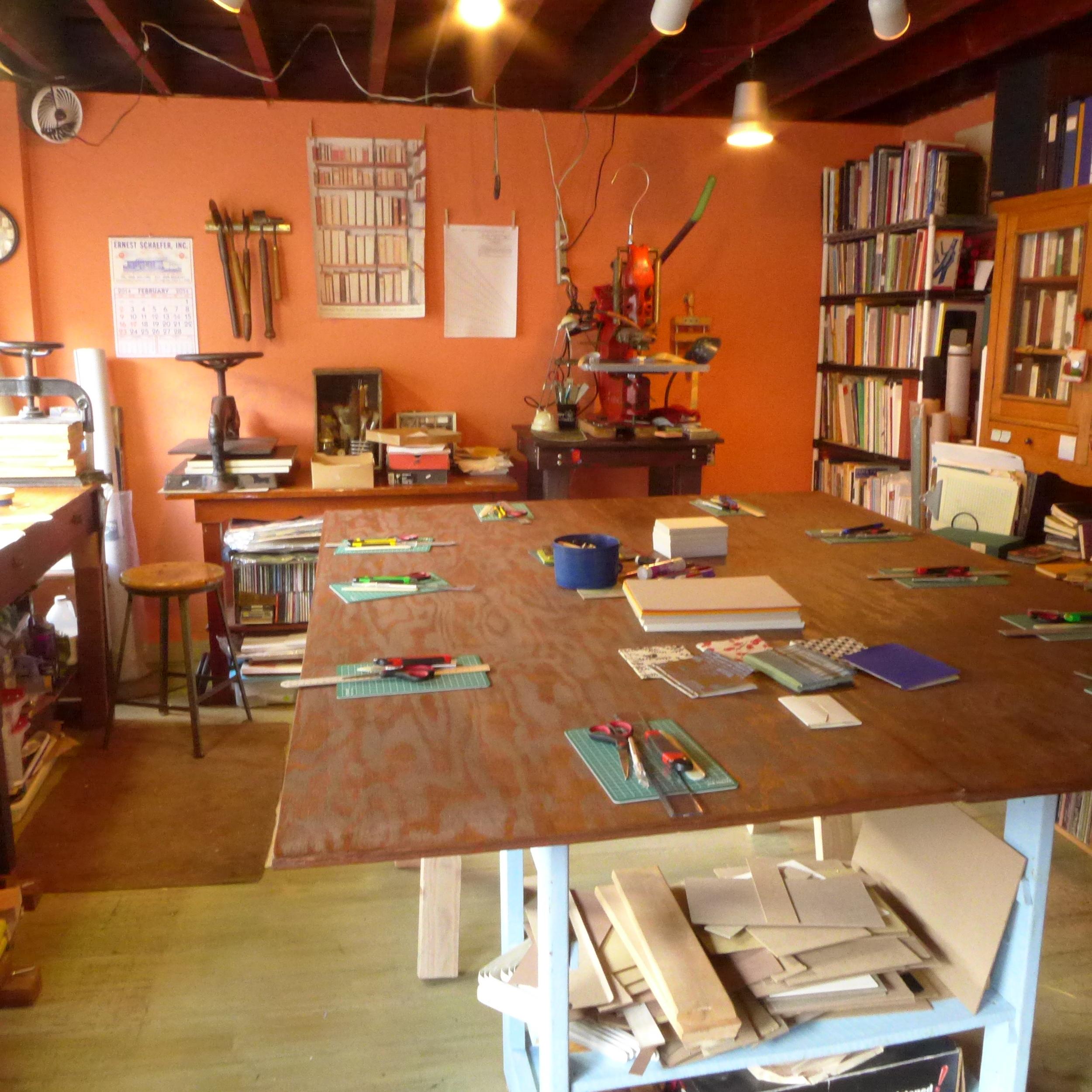 The bindery at Book Island