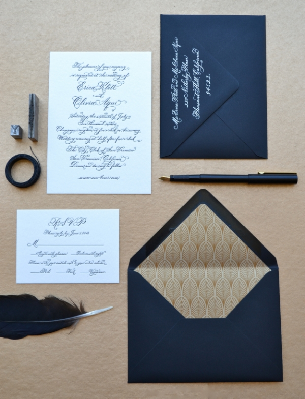 Erica & Olivia's invitation, coordinated by Be Hitched