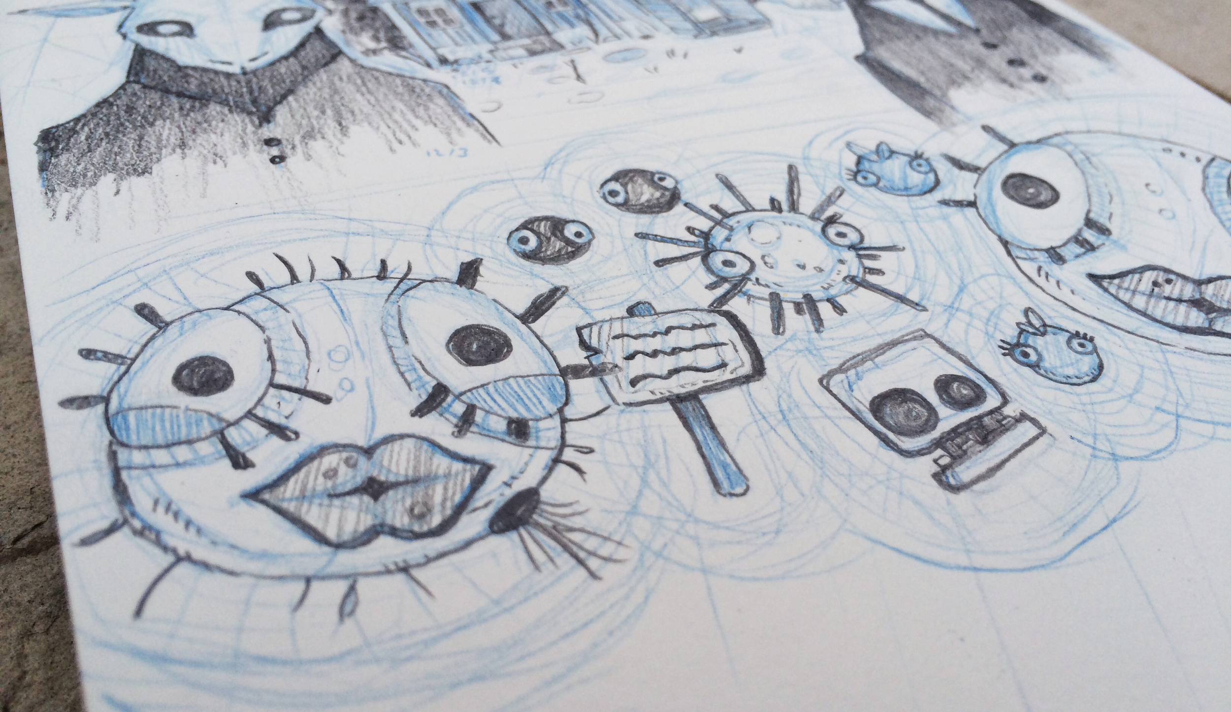 Sketch of World of Goo by Chloe Yingst | chloedraws.com