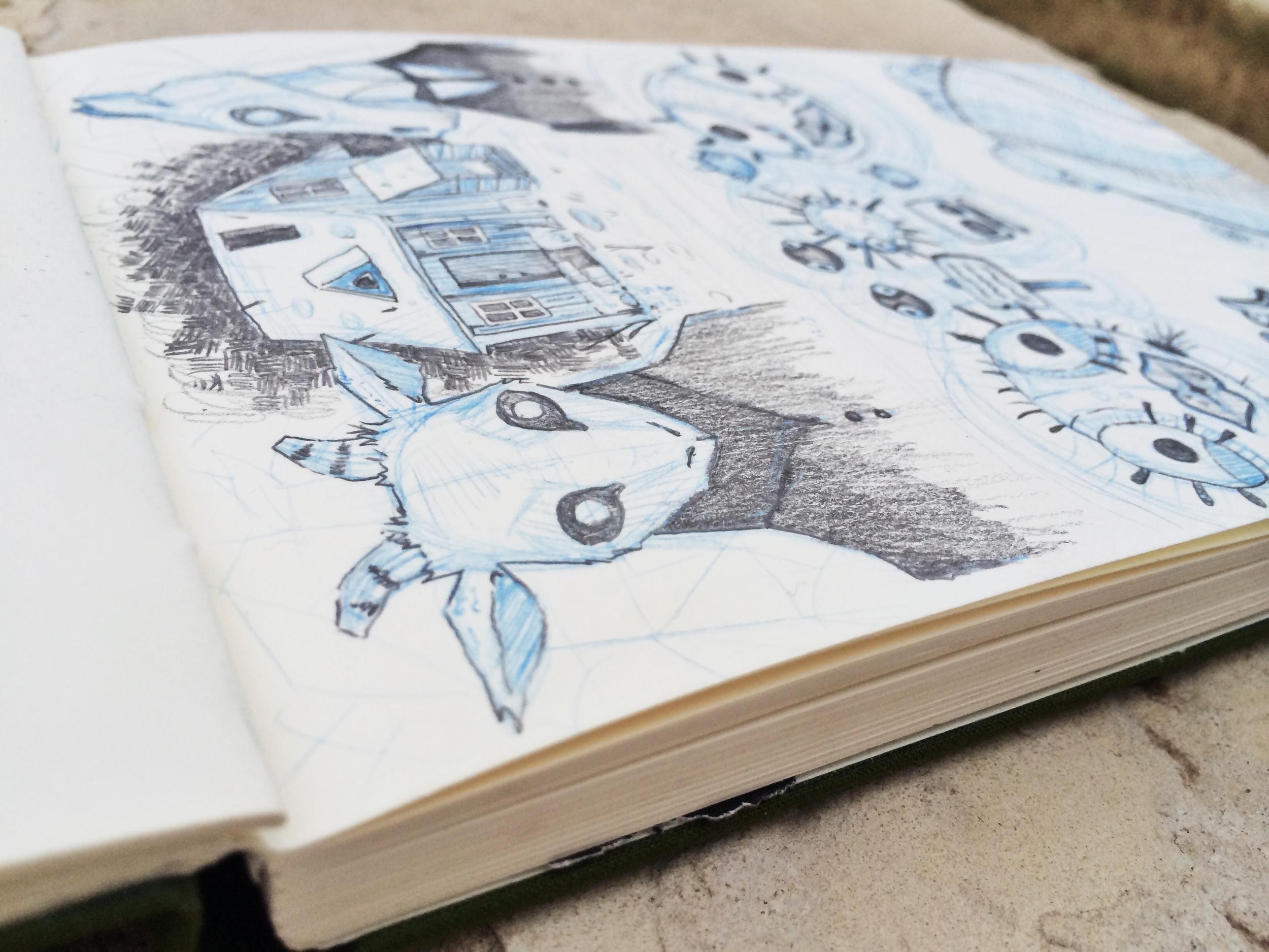 Sketch of Year Walk by Chloe Yingst | chloedraws.com