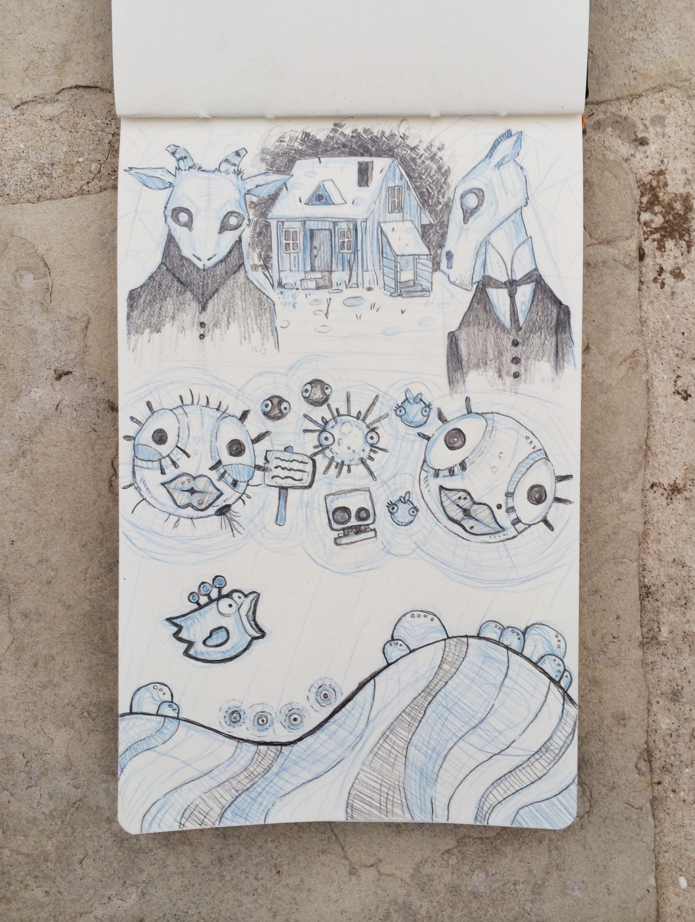 Sketch of favorite iPad games by Chloé Yingst |  chloedraws.com