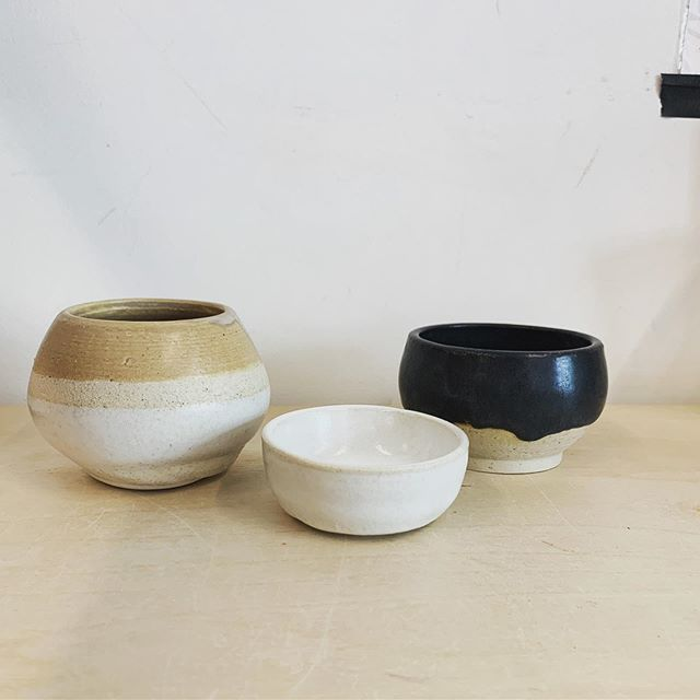 Loved taking ceramics class with @still_life_ceramics here's a couple of my pieces #alwayslearning #creativeoutlet #ceramics #wheelthrownceramics
