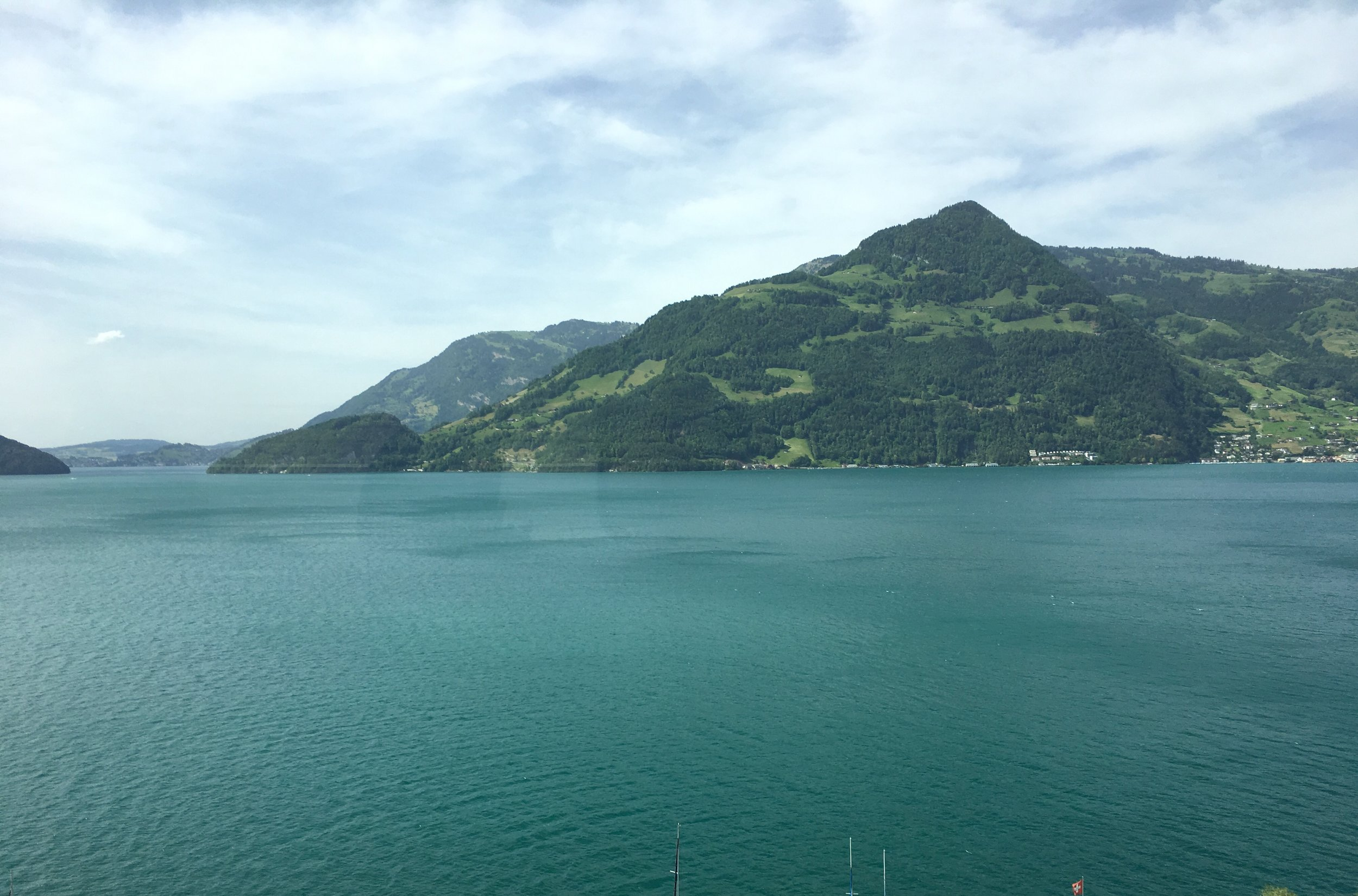 Another beautiful view on our long bus ride into Switzerland.