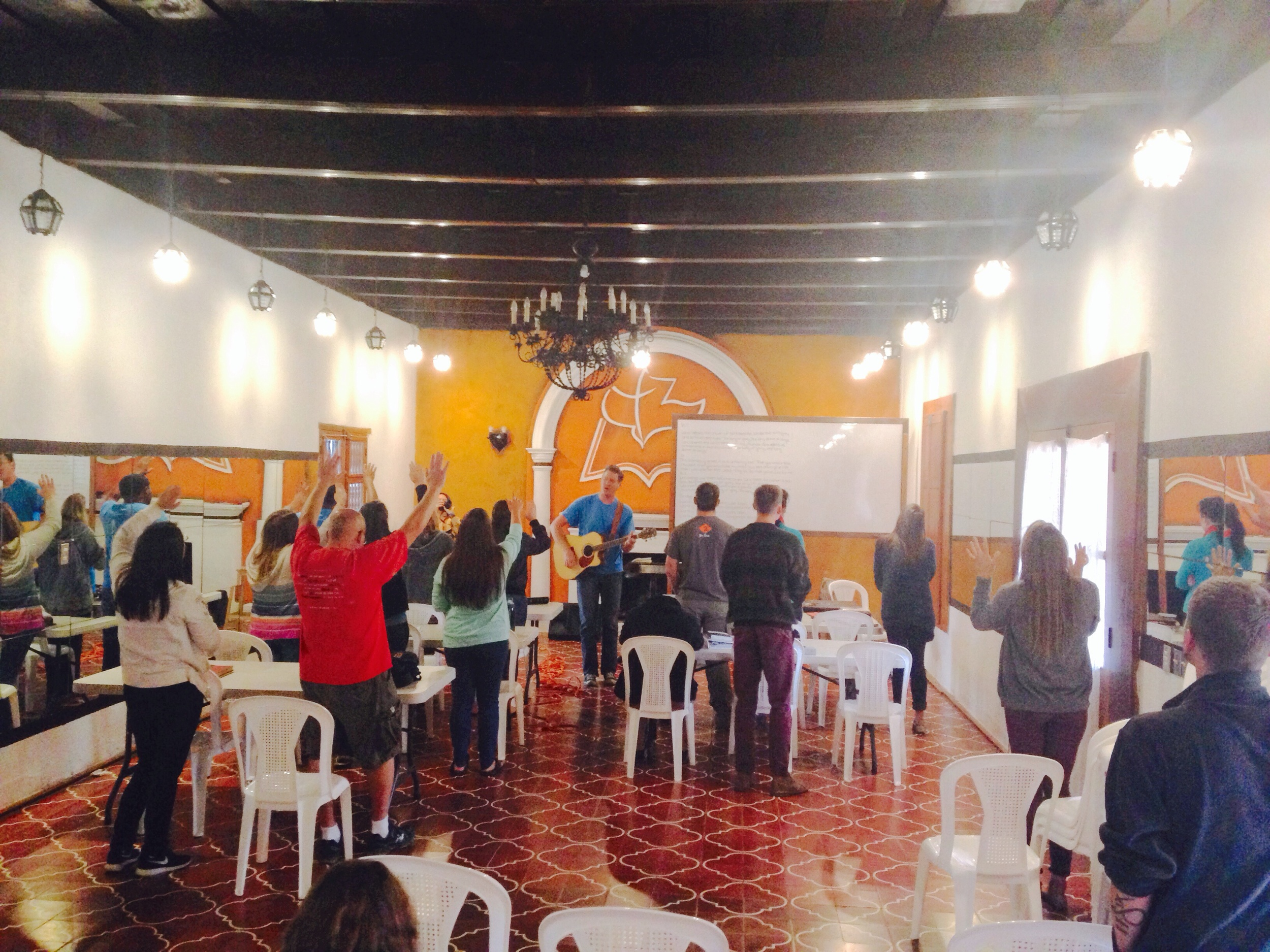 Ths is the class room at the school. Donothan lead in worship and teaching all morning, it was a blessing!